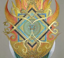 Mandala Cearing the Negative around the Great Mother Goddess (Divine Feminine) by Helen Grant-Johnston