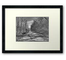 Trail of Shadows Framed Print