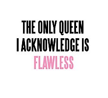 FLAWLESS QUEEN BEYONCE Photographic Print