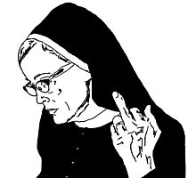 Sister Jude Middle Finger Photographic Print