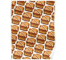 Turkey Club On White Pattern Poster