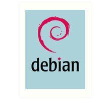 Debian Art Print