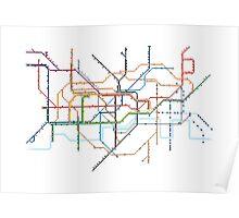 London Underground Pixel Map Poster