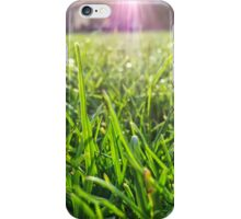 Macro blades of grass iPhone Case/Skin