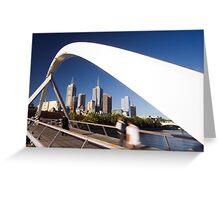 Southgate Footbridge, Melbourne Greeting Card