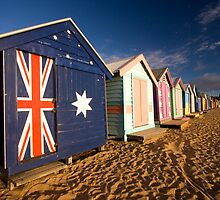Brighton Beach Huts by AustralianImagery
