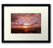 Melbourne at Sunset Framed Print