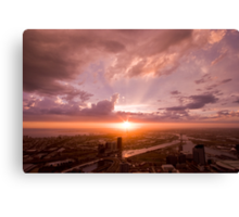 Melbourne at Sunset Canvas Print