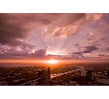 Melbourne at Sunset Photographic Print