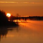 River in fire by Alain Turgeon