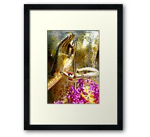 Buddha Hands And Flowers Framed Print