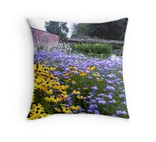 A walled garden Throw Pillow