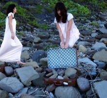 """""""I Carry the Suitcase #2"""" 2007 digital media by Tara  Standing"""