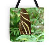 Zebra Longwing Butterfly - Closed Wings Tote Bag
