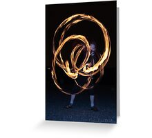 Fire-Dancing Girl Greeting Card