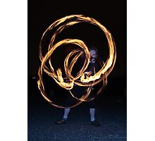 Fire-Dancing Girl Photographic Print