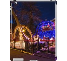 Crazy amount of xmas lights on this house iPad Case/Skin