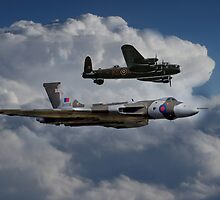 Lancaster and Vulcan  by J Biggadike