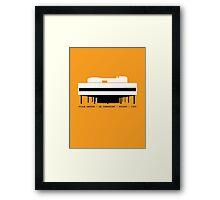 Villa Savoye Le Corbusier Architecture Tshirt Framed Print