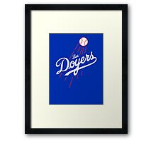 Los Doyers (White)  Framed Print