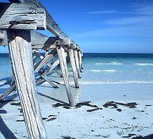 Old Eucla Pier by John Barratt