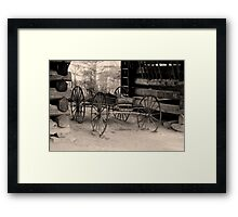 Wagon Of Old Framed Print