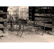Wagon Of Old Photographic Print