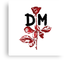 Depeche Mode : Violator DM Paint Black  Canvas Print