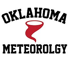 Cool 'Oklahoma Meteorology' Tornado Icon T-Shirts and Accessories  Photographic Print