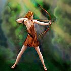 Diana, the Huntress by Janet Boyd Art