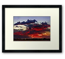 Sunrise Thunderstorm Framed Print