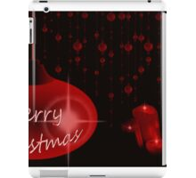 Merry Christmas with candles iPad Case/Skin