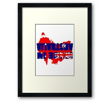 Made in Australia (Upside Down T-Shirt) Framed Print