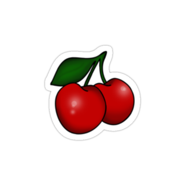 Kitsch Retro Cherries by Tee Brain Creative
