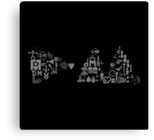 Depeche Mode : DM Logo 2013 - With old logo 1 - Grey Canvas Print