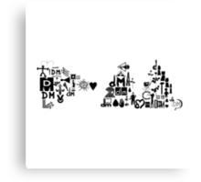 Depeche Mode : DM Logo 2013 - With old logo 1 - Black Canvas Print