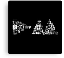 Depeche Mode : DM Logo 2013 - With old logo 1 - White Canvas Print