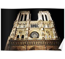 Notre Dame, Paris, Illuminated Poster