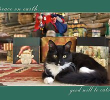 peace on earth....good will to cats by Marianne Skov Jensen