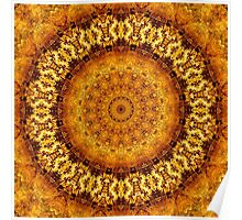 Floral Ring of Autumn Gold Poster