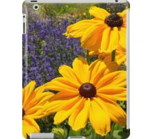 Black eyed susans against Lavendar... iPad Case/Skin