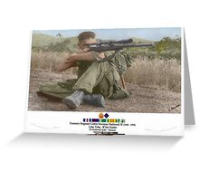 White Feather Sniper (Long Trang)  Greeting Card