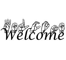 Welcome in ASL Photographic Print