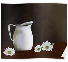 Daisies And Pitcher Poster