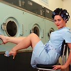 Retro Pin Up - Laundry Day by Helen McLean