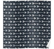 PRINTED Chalkboard Arrow Pattern - Black and White Tribal Poster