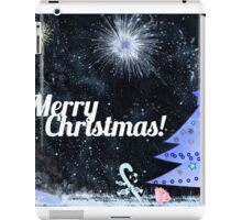 Marry Christmas, outdoor at night iPad Case/Skin