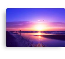 beautiful night on the beach Canvas Print