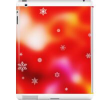 Snowflakes on red background iPad Case/Skin