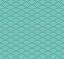 Teal Mermaid Scales by PatternPrint